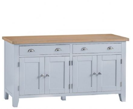 Toulouse Grey 4 Drawer Sideboard